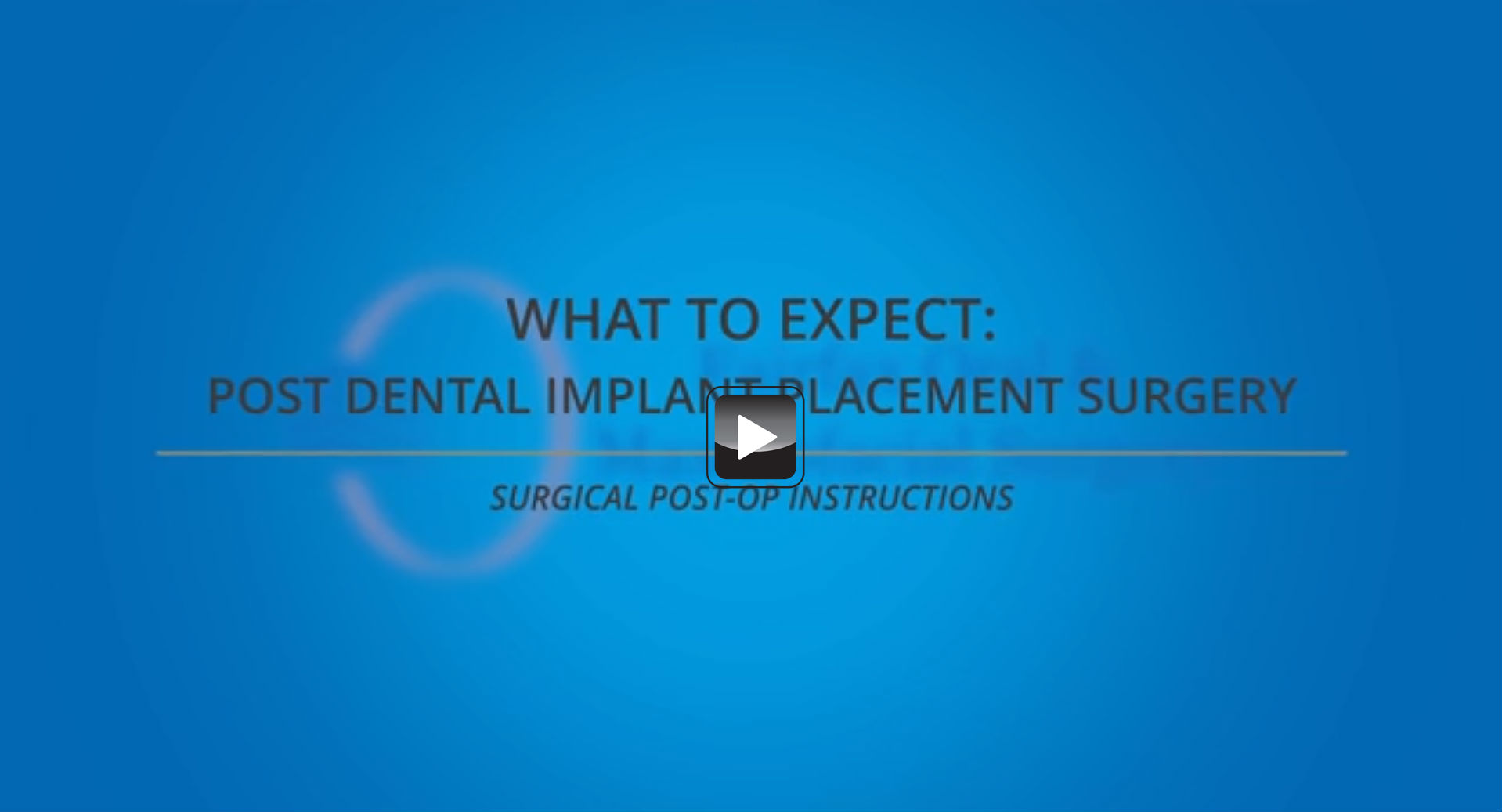 Post Dental Implant Instructions Oral Surgery » Fairfax Oral