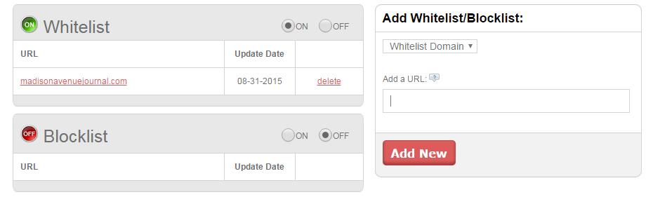 Whitelist URL, IP Blocking, IP Allow * Oculu Platform